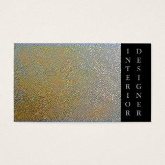 Gold Silver Shiny Metal Effect | Interior Designer Business Card
