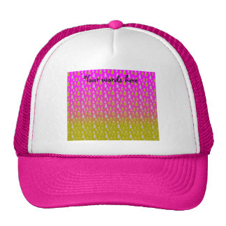 Gold silver snowmen on pink gold fade trucker hat