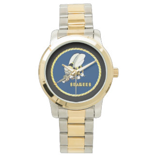Gold/Silver Two Tone Sea-Bees Wrist Watch