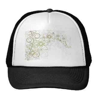 Gold Simple Floral pattern Trucker Hat