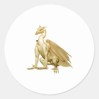 Gold Sitting Dragon Stickers