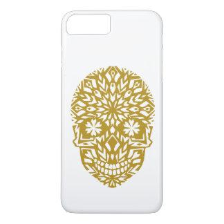 gold skull, ornament, winter, snowflake, snow Case-Mate iPhone case