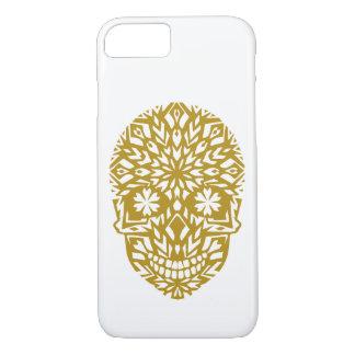 gold skull, ornament, winter, snowflake, snow iPhone 8/7 case