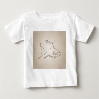 Gold small fish baby T-Shirt