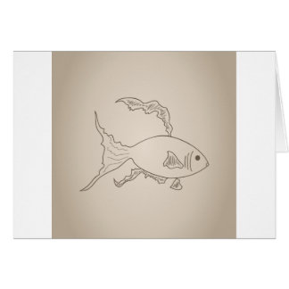 Gold small fish card