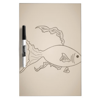 Gold small fish dry erase whiteboards