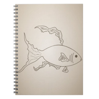 Gold small fish notebook