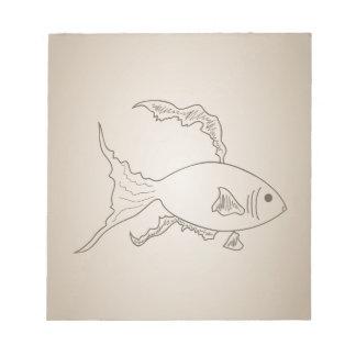 Gold small fish notepad
