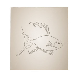 Gold small fish notepads