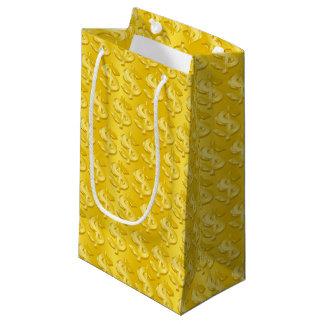 $ Gold $ Small Gift Bag