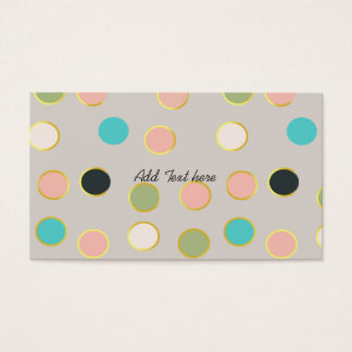 gold smoked polka dots business card