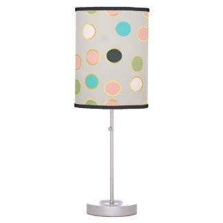 gold smoked polka dots table lamp