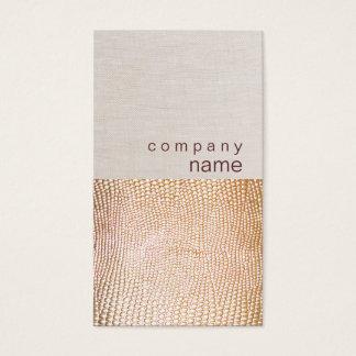 Gold Snake Skin Pattern Business Card