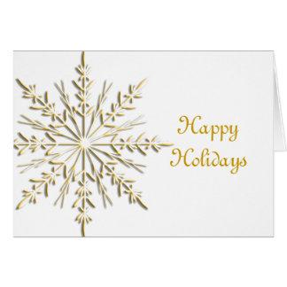 Gold Snowflake Business Christmas Card