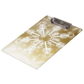 Gold Snowflake Clipboard