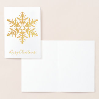 Gold Snowflake Foil Card