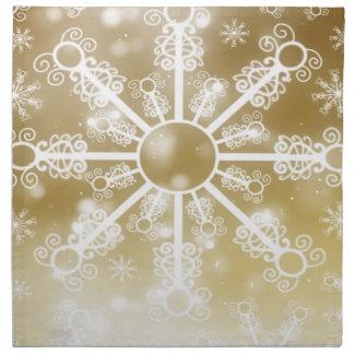 Gold Snowflake Napkin