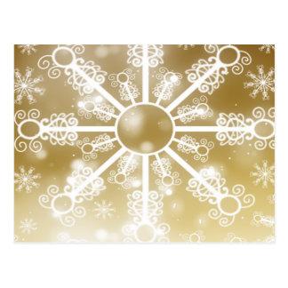 Gold Snowflake Postcard