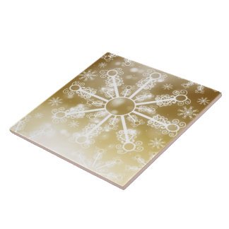 Gold Snowflake Tile