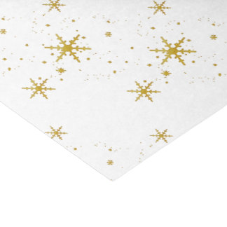 Gold Snowflakes Christmas Tissue Paper