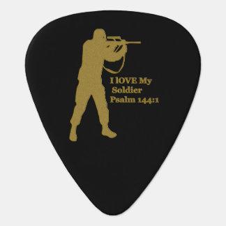 Gold solder sniper guitar pick