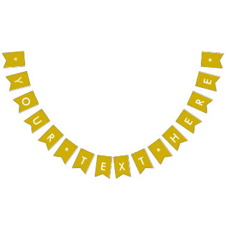 Gold Solid Color Customize It Bunting Flags