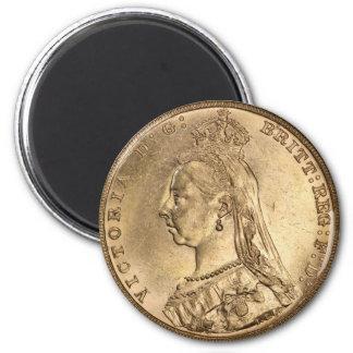 GOLD SOVEREIGN. Queen Victoria. Magnet