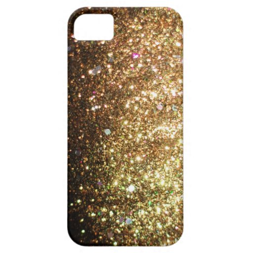 Gold Sparkle Glitter iPhone 5 Christmas iPhone 5 Case