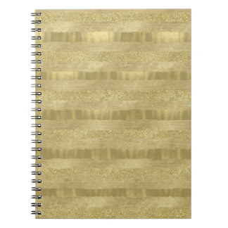 Gold Sparkle Stripes Notebook