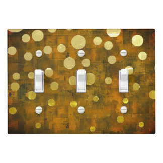 Gold Sparkles on Dark Cork Light Switch Cover