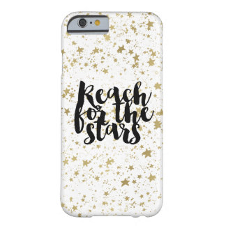 Gold Sparkling Stars Barely There iPhone 6 Case
