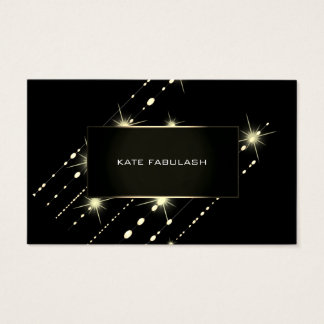 Gold Sparkly Crystal Diamond Event Planner Beauty Business Card
