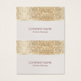 Gold Sparkly Sequin Mini Price, Gift or Hang Tags Business Card