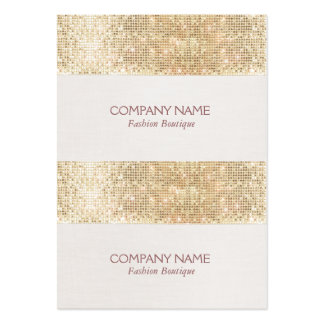 Gold Sparkly Sequin Mini Price, Gift or Hang Tags Large Business Card
