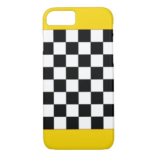 Gold Sparkly Taxi Checkerboard CricketDiane iPhone 7 Case