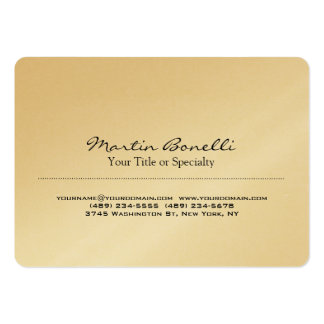 Gold Special Unique Modern Professional Large Business Card