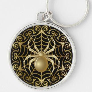 Gold Spider Keychain