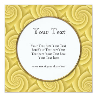 Gold Spiral in brushed metal texture Personalized Invite