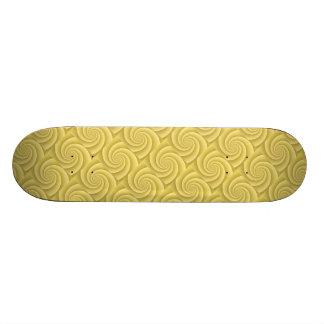 Gold Spiral in brushed metal texture Custom Skateboard
