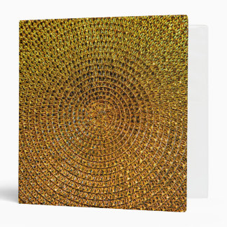 Gold Spiral Pattern 3 Ring Binders