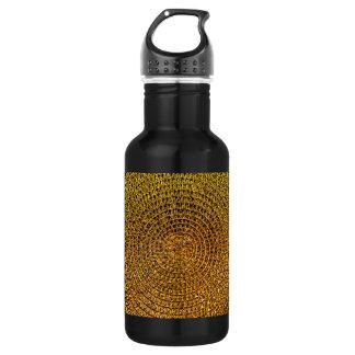 Gold Spiral Pattern 532 Ml Water Bottle