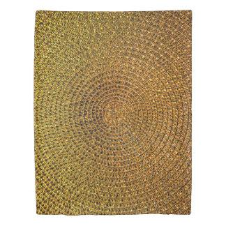 Gold Spiral Pattern Duvet Cover