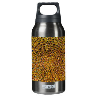 Gold Spiral Pattern Insulated Water Bottle