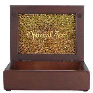 Gold Spiral Pattern Keepsake Box