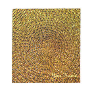 Gold Spiral Pattern Notepad