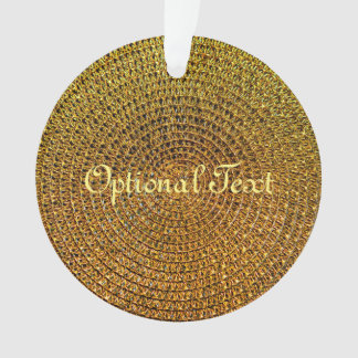 Gold Spiral Pattern Ornament