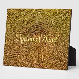 Gold Spiral Pattern Plaque