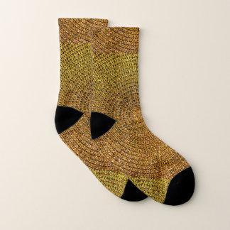 Gold Spiral Pattern Socks