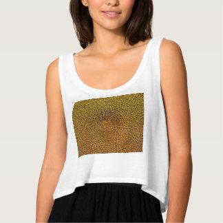 Gold Spiral Pattern Tank Top