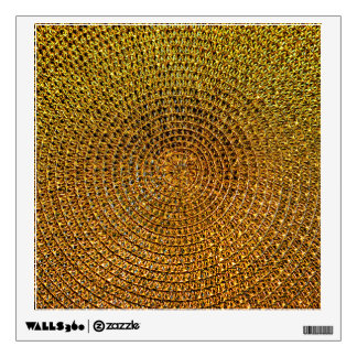 Gold Spiral Pattern Wall Decal